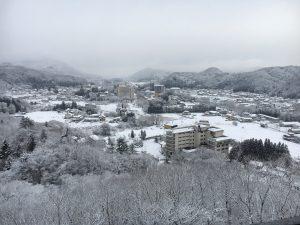 旅行秋保温泉緑水亭雪景色