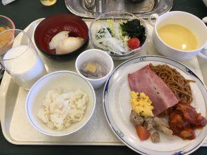 旅行秋保温泉緑水亭の朝食バイキング七夕