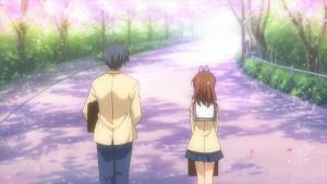 CLANNAD1話桜舞い散る坂道で