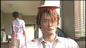 仮面ライダー龍騎北岡にスパゲティかける