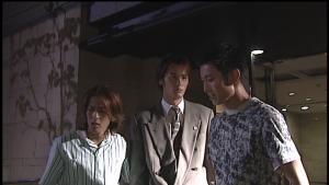 仮面ライダー龍騎真司と蓮の喧嘩を止める北岡