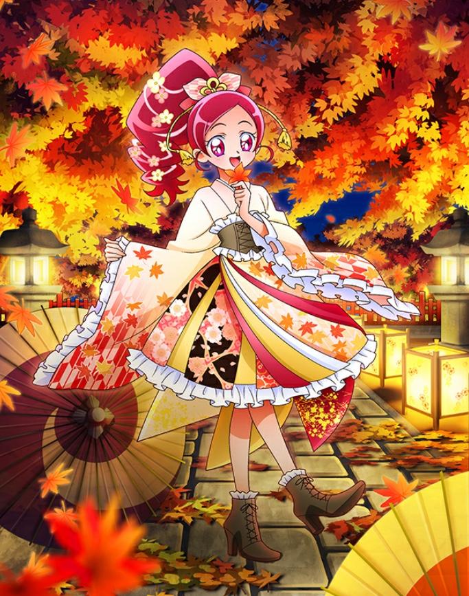 花咲つぼみ紅葉爛漫ジャパネスクドレス