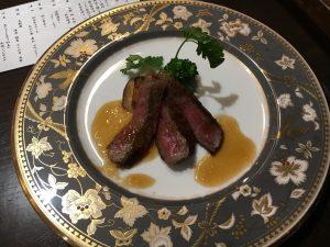 旅行秋保温泉の緑水亭料理仙台牛サーロインステーキ