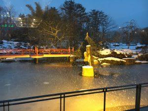 秋保温泉の緑水亭大庭