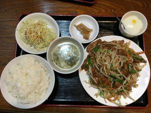安くて美味しいボリュームがある中華料理店[川香菜房]のレバニラ定食