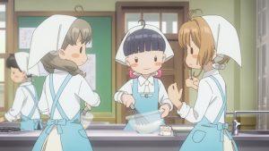 カードキャプターさくらクリアカード家庭科の授業で調理実習する生徒