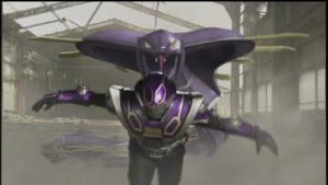 仮面ライダー王蛇のファイナルベントベノクラッシュ