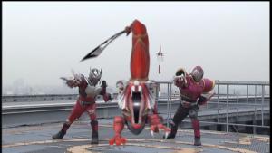 仮面ライダー龍騎のストライクベントとライアがコピーベント