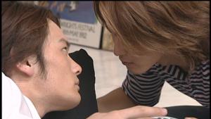 仮面ライダー龍騎真司と北岡キス