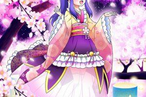 氷川いおなフォーチュン紫桜ドレス